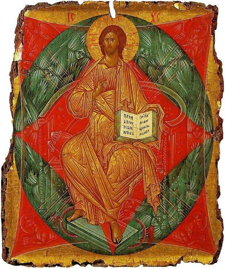Description of the icon by Andrei Rublev Savior in the forces