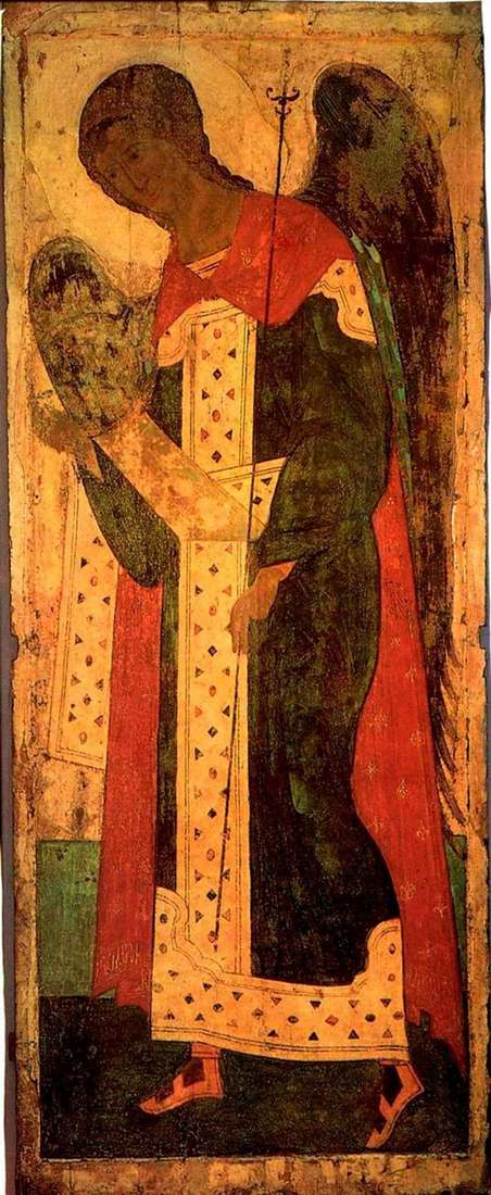 Description of the icon by Andrei Rublev Archangel Gabriel