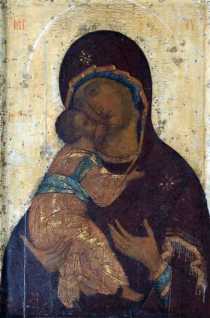 Description of the icon by Andrei Rublev Our Lady of Vladimir