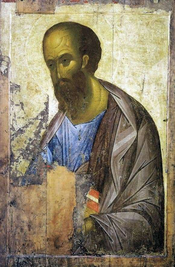 Description of the icon by Andrei Rublev Apostle Paul