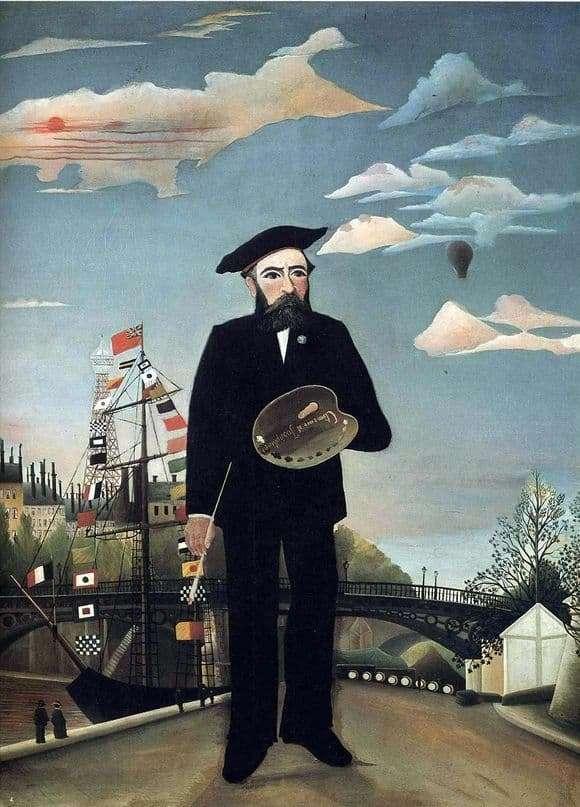 Description of the painting by Henri Rousseau Self portrait (Customs)