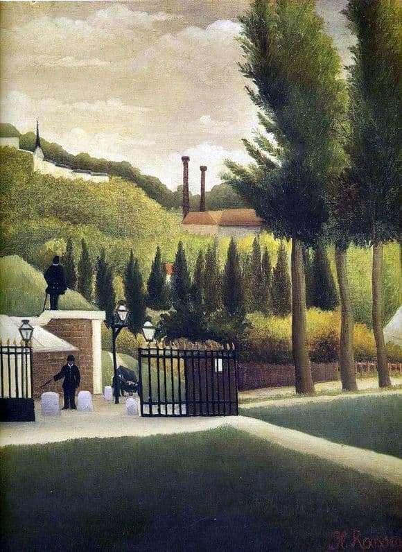 Description of the painting by Henri Rousseau Customs