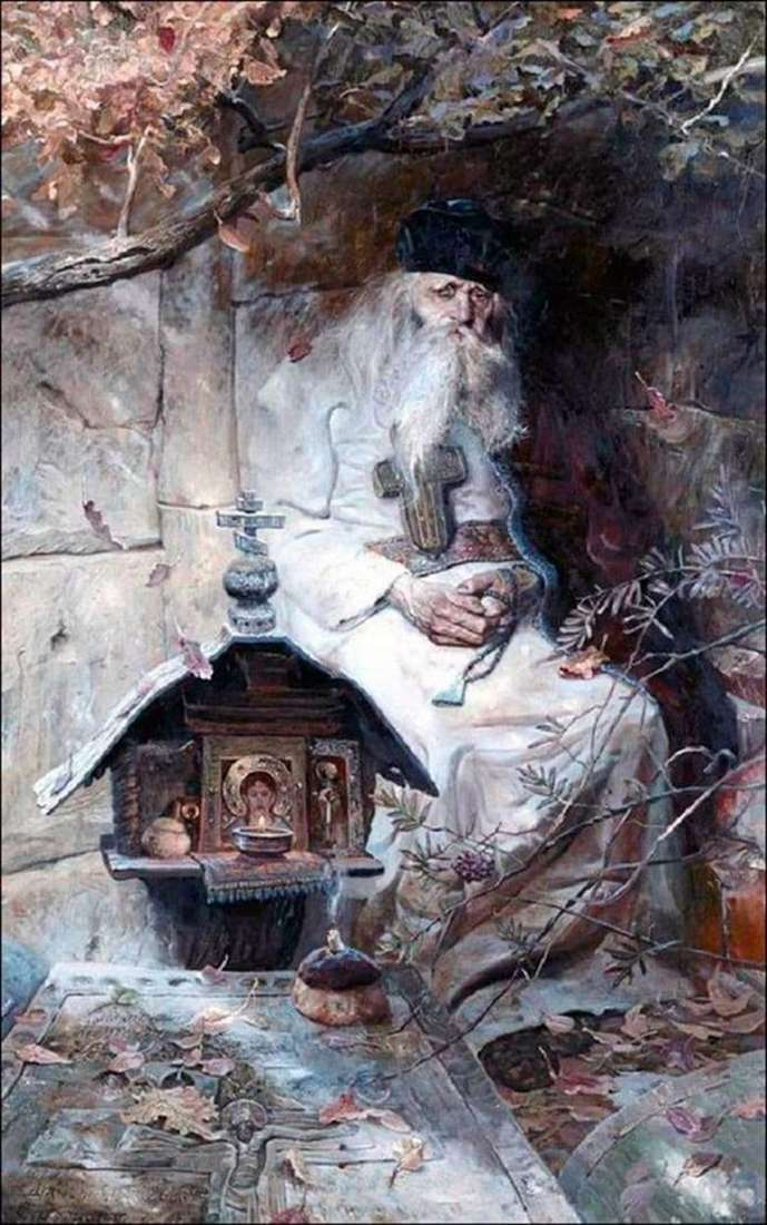 Description of the painting by Pavel Ryzhenko Prayer