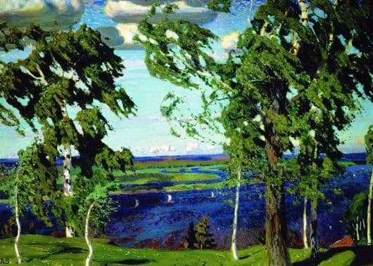 Description of the painting by Arkady Rylov Green noise