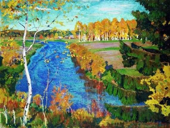 Description of the painting by Arkady Rylov Autumn on the river Tosna