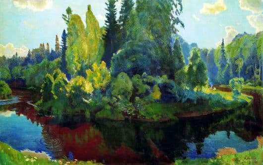 Description of the painting by Arkady Rylov In Nature