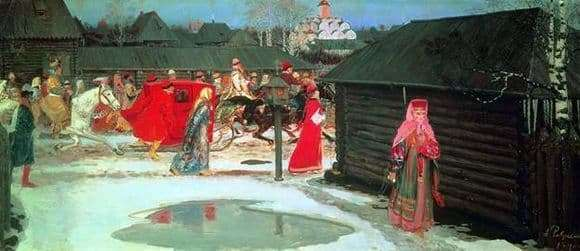 Description of the painting by Andrei Ryabushkin Wedding train in Moscow (XVII century)