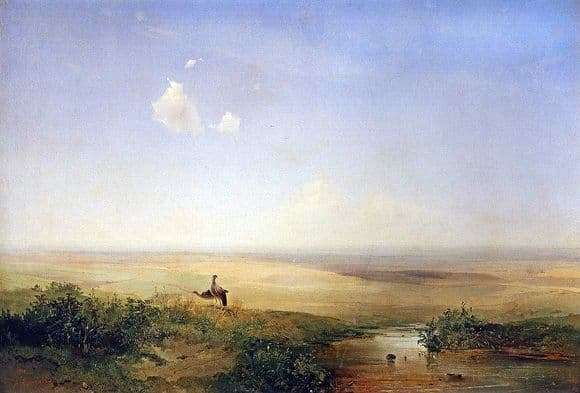 Description of the painting by Alexei Kondratievich Savrasov Steppe by day (1875)
