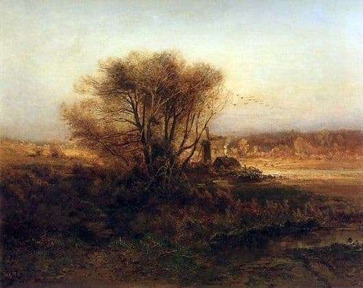 Description of the painting by Alexei Savrasov Autumn