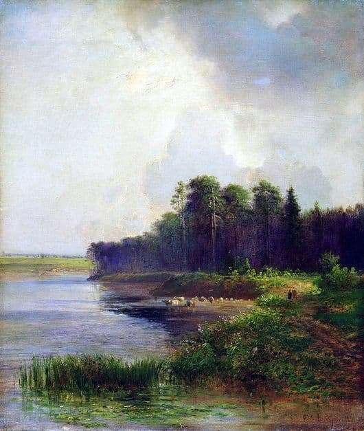 Description of the painting by Alexey Savrasov River Bank