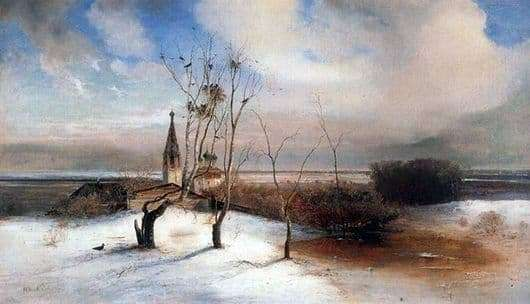 Description of the painting by Alexei Savrasov Rooks flew