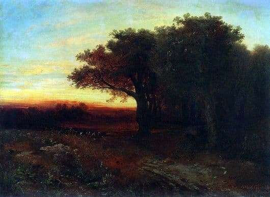 Description of the painting by Alexei Savrasov Sunset