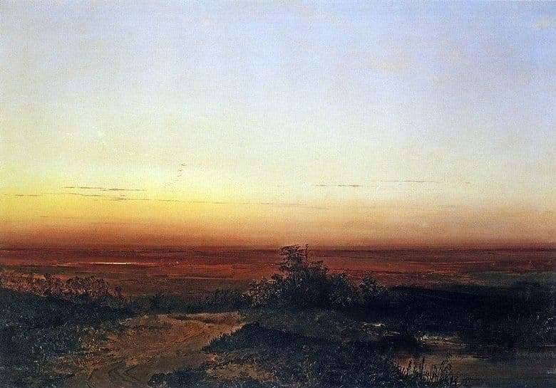 Description of the painting by Alexei Savrasov Dawn in the steppe