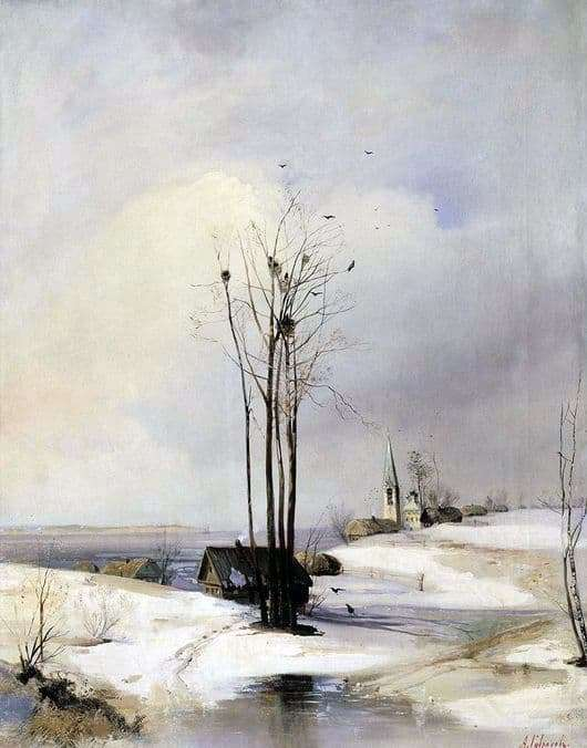 Description of the painting by Alexei Savrasov Thaw (Early Spring)