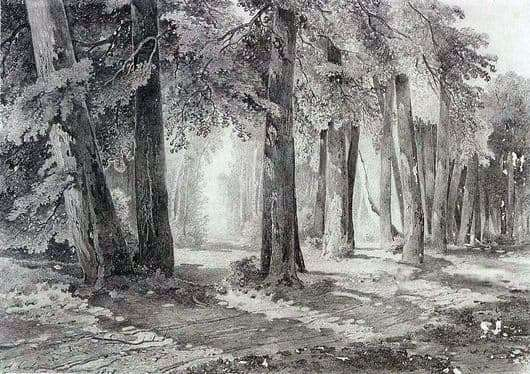 Description of the painting by Alexei Savrasov In the Park