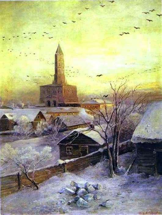 Description of the painting by Alexei Savrasov Sukharev Tower
