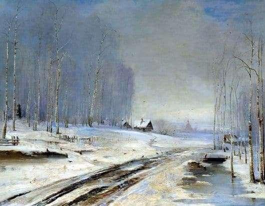 Description of the painting by Alexei Kondratievich Savrasov Rasputitsa
