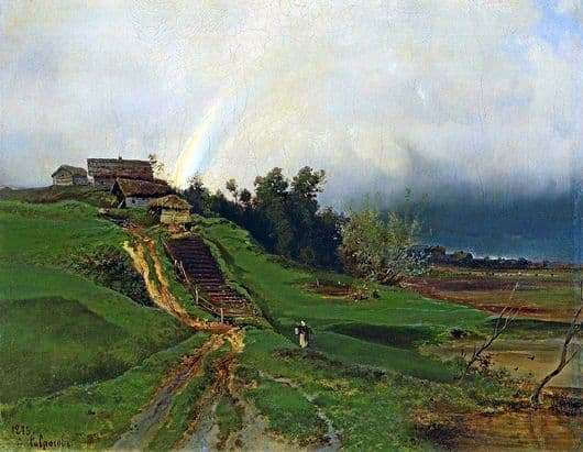 Description of the painting by Alexei Savrasov Rainbow
