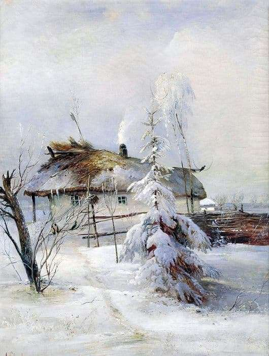Description of the painting by Alexei Savrasov Winter