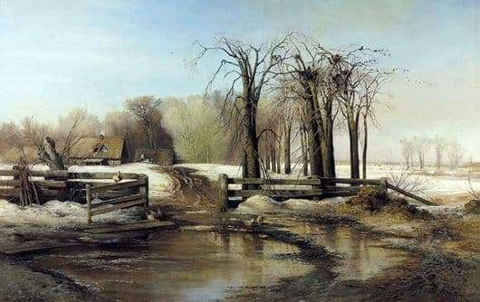Description of the painting by Alexei Savrasov Spring Day