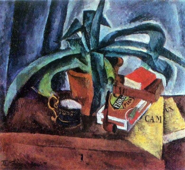 Description of the painting by Peter Konchalovsky Agave (1916)