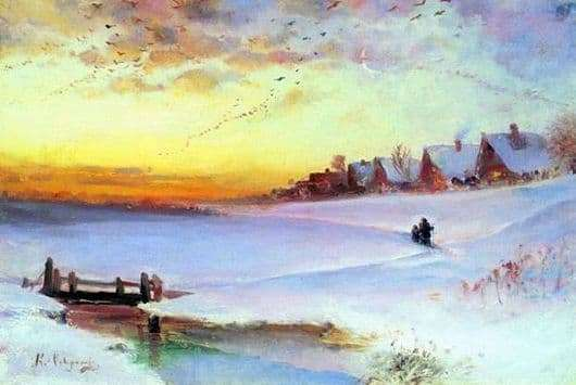 Description of the painting by Alexei Savrasov Winter Landscape