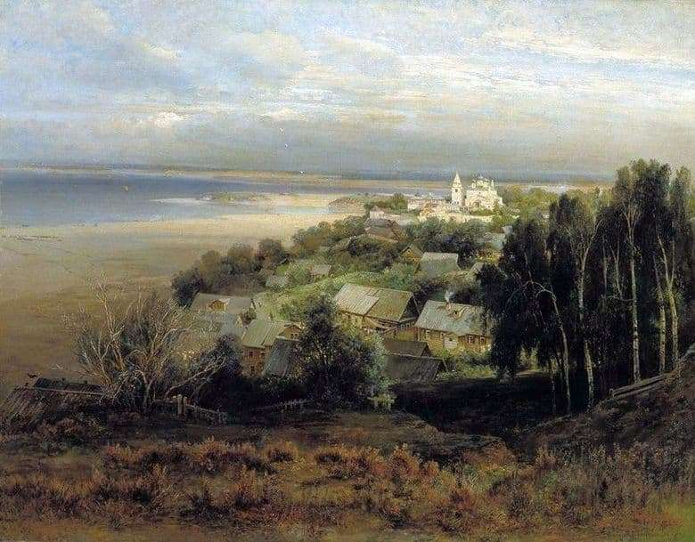 Description of the painting by Alexei Savrasov Pechersky Monastery near Nizhny Novgorod