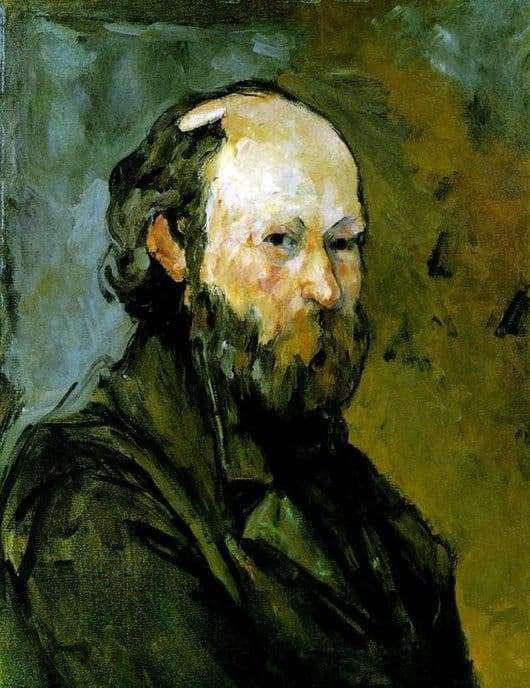 Description of the painting by Paul Cezanne Self portrait