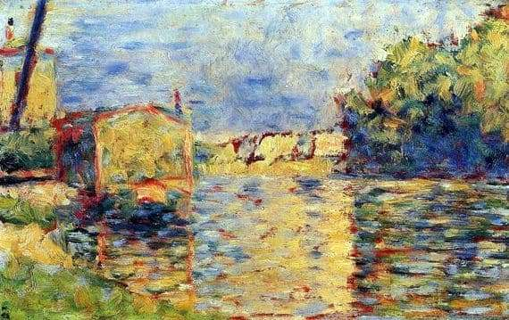 Description of the painting by Georges Seurat River Bank