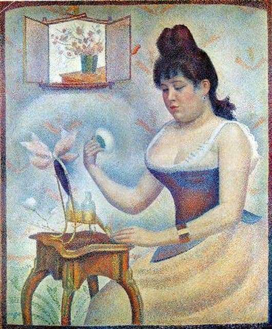 Description of the painting by Georges Seurat Effluent woman