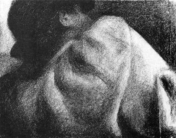 Description of the painting by Georges Seurat Sleeping