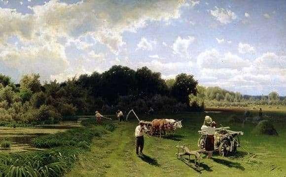 Description of the painting by Nikolay Sergeev Senokos