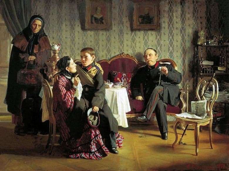 Description of the painting by Alexei Korzukhin Separation (1872)