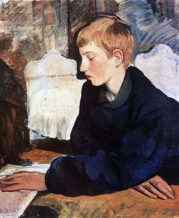 Description of the painting by Zinaida Serebryakova Portrait of Eugene