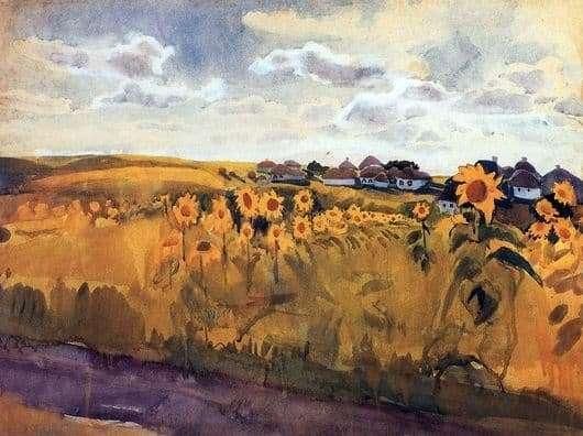 Description of the painting by Zinaida Serebryakova Autumn