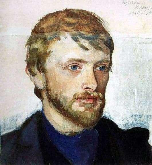 Description of the painting by Serebryakova Portrait of B. Serebryakov