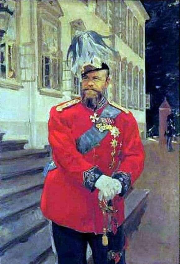Description of the painting by Valentin Serov Portrait of Alexander III