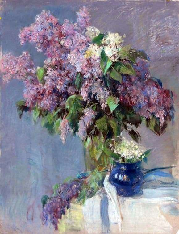 Description of the painting by Valentin Serov Flowers