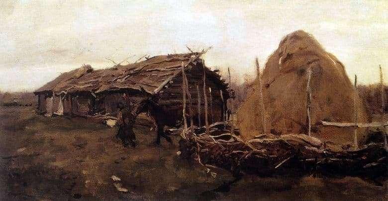 Description of the painting by Valentin Serov Haystack