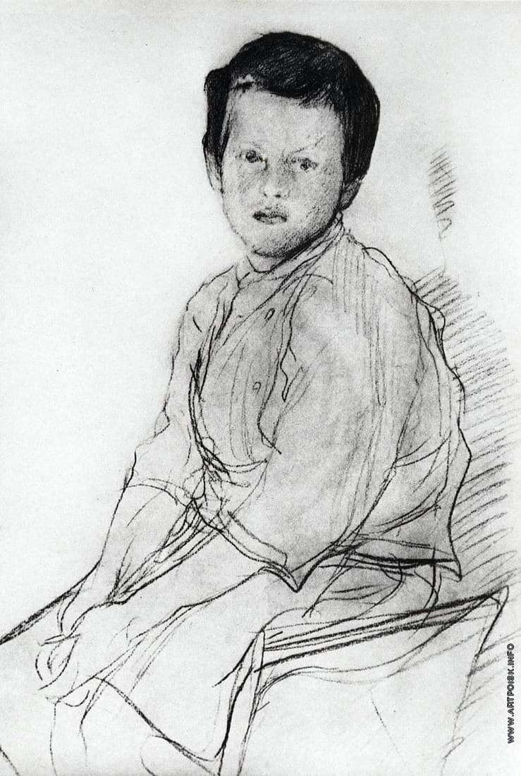 Description of the painting by Valentin Serov Portrait of Misha Serov