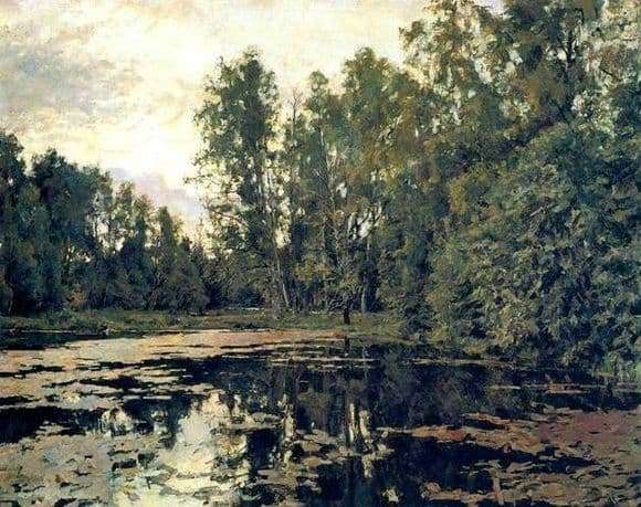 Description of the painting by Valentin Serov overgrown pond