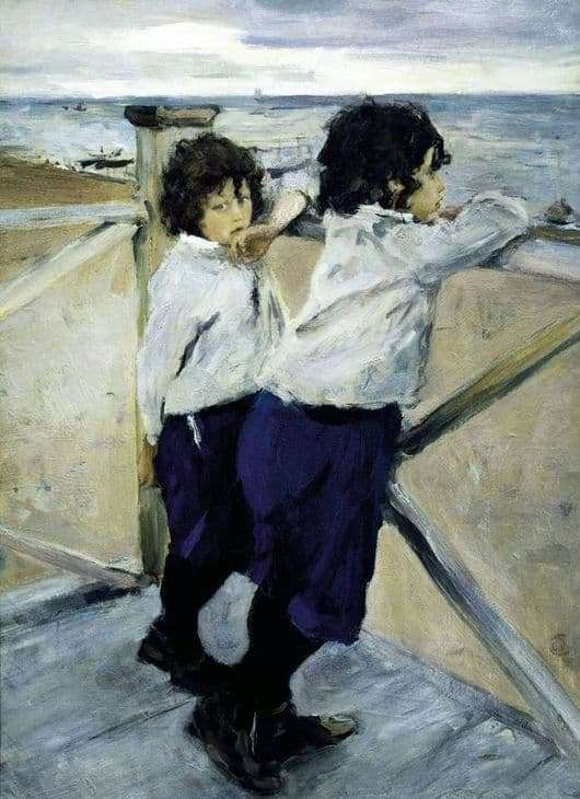 Description of the painting by Valentin Serov Children