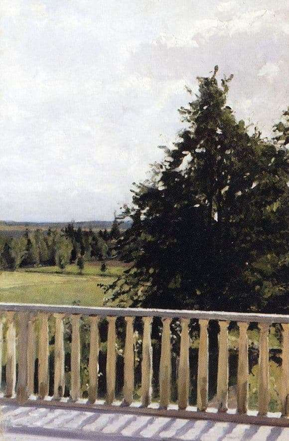 Description of the painting by Valentin Serov Balcony