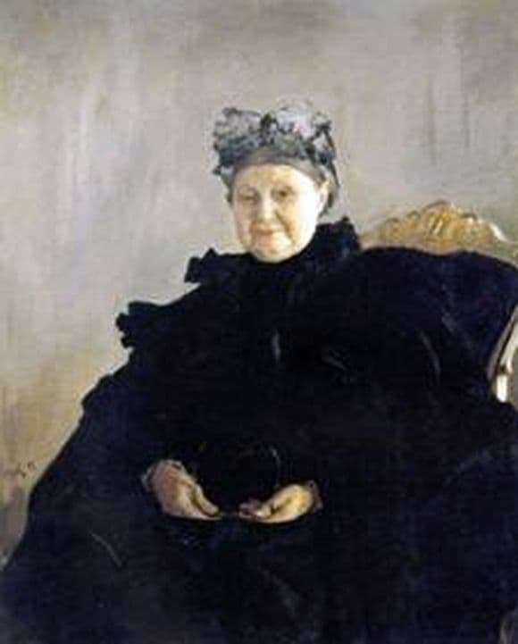 Description of the painting by Valentin Serov Portrait of M. F. Morozova