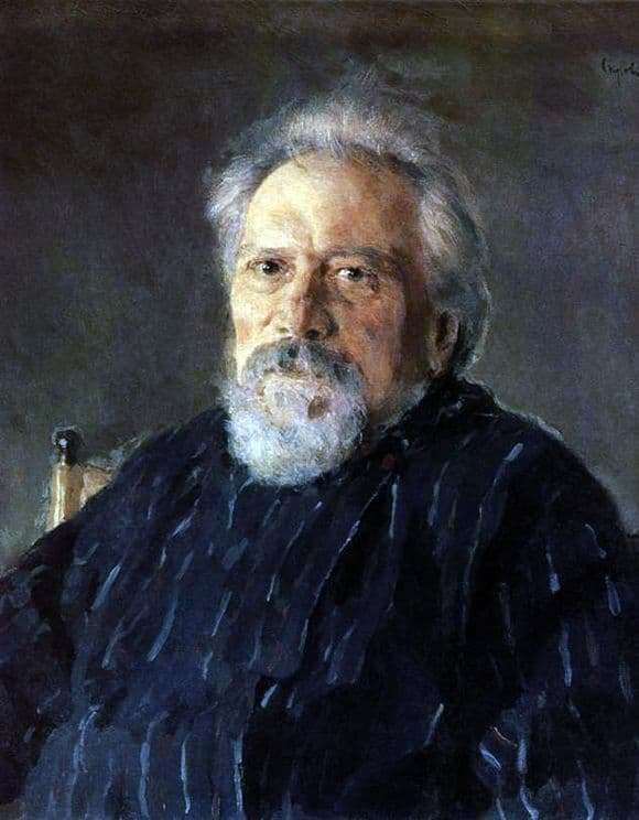 Description of the painting by Valentin Serov Portrait of N. S. Leskov