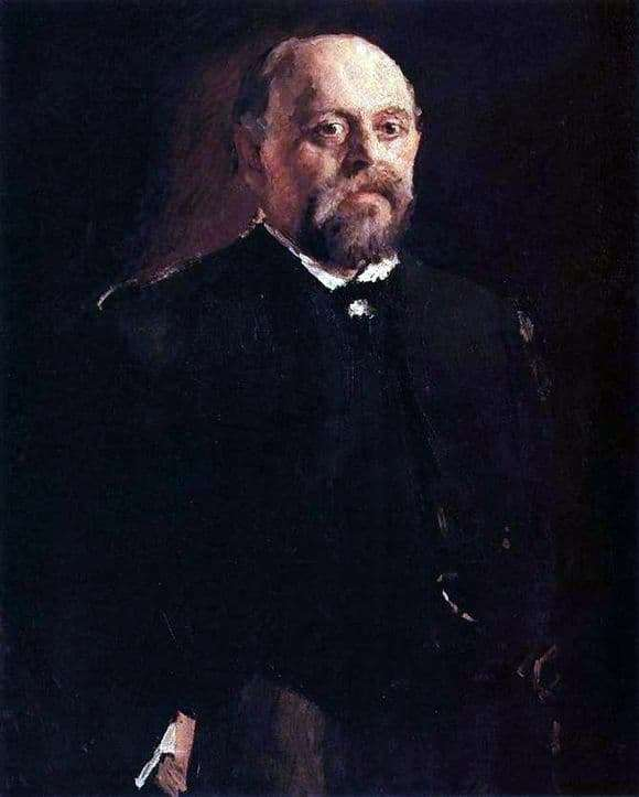 Description of the painting by Valentin Serov Portrait of S. I. Mamontov