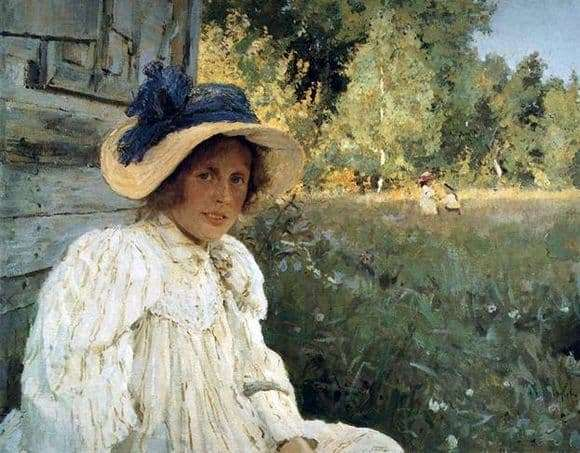 Description of the painting by Valentin Serov Summer (Portrait of O. Serova)