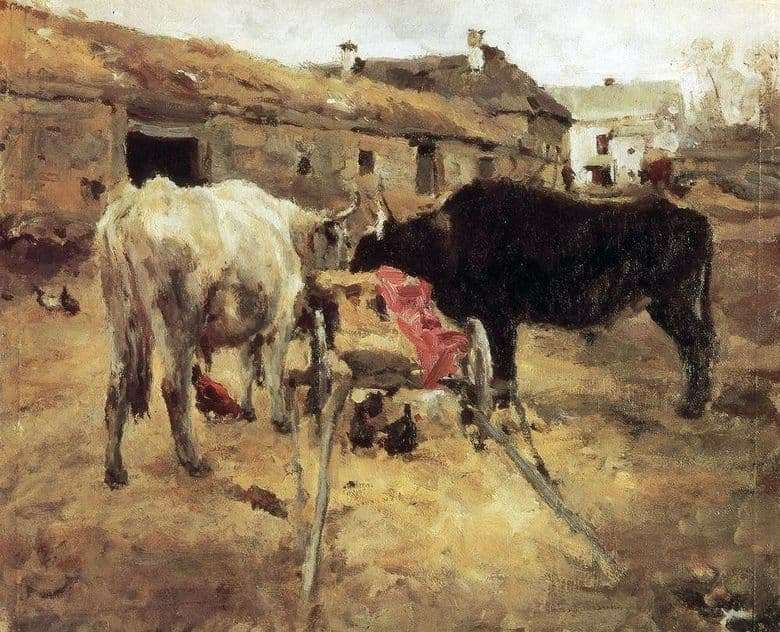 Description of the painting by Valentin Serov Oxen