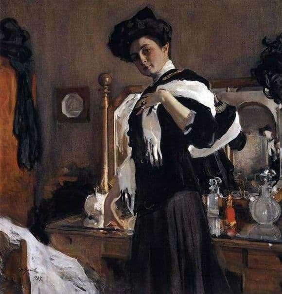 Description of the painting by Valentin Serov Portrait G. L. Hirschman