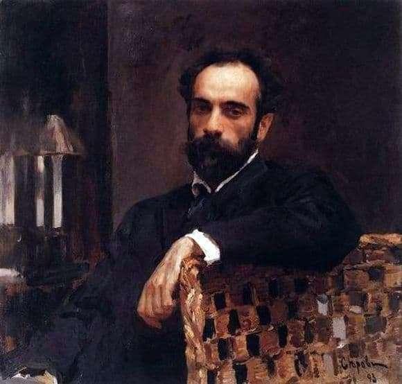 Description of the painting by Valentin Serov Portrait of Levitan